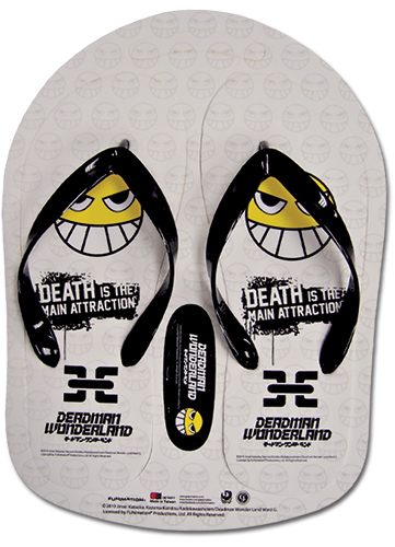 Deadman Wonderland Smile Face Pattern Sandal 28 Cm, an officially licensed product in our Deadman Wonderland Sandals department.