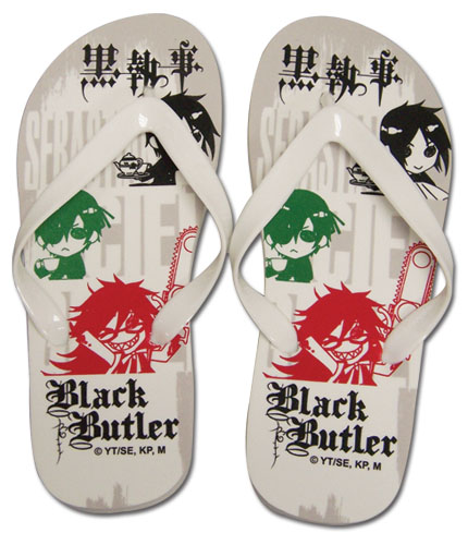 Black Butler Ciel, Sebastain, & Grell Sandals Uni-sex (26cm), an officially licensed Black Butler Sandals
