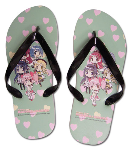 Madoka Magica - Madoka, Sayaka & Mami Girl's Sandal, an officially licensed product in our Madoka Magica Sandals department.