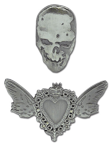 Death Note Heart 3D Pin Set, an officially licensed product in our Death Note Pins & Badges department.