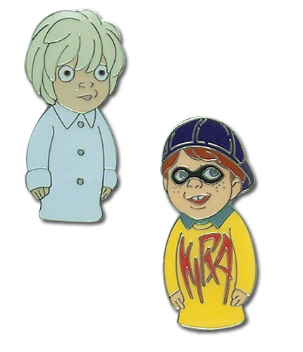 Death Note Kira & Near Puppet Pin Set, an officially licensed product in our Death Note Pins & Badges department.