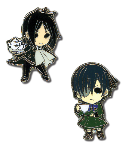 Black Butler Sebastian And Ciel Mini Pinset, an officially licensed product in our Black Butler Pins & Badges department.