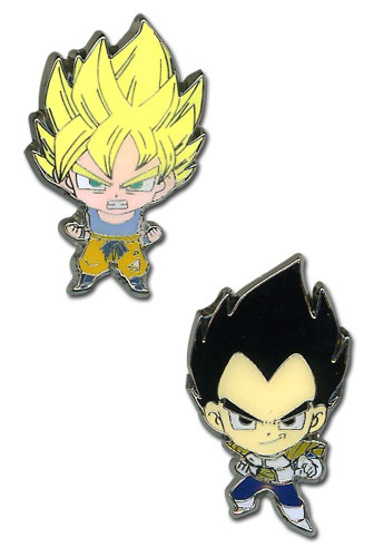 Dragon Ball Z Super Saiyan Goku & Vegeta Mini Pinset, an officially licensed product in our Dragon Ball Z Pins & Badges department.
