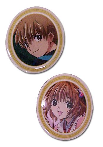 Tsubasa Movie Syaoran & Sakura Pin Set, an officially licensed product in our Tsubasa Pins & Badges department.