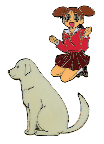 Azumanga Daioh Chiyo & Dog Pin Set, an officially licensed Azumanga Pin / Badge
