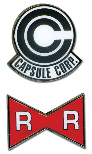 Dragon Ball Z Capsule Corp. & Red Ribbon Army Pinset, an officially licensed product in our Dragon Ball Z Pins & Badges department.