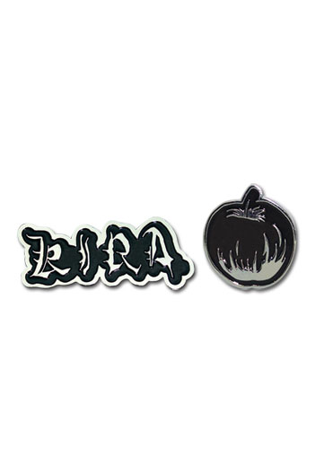 Death Note Kira & Apple Pin Set, an officially licensed product in our Death Note Pins & Badges department.