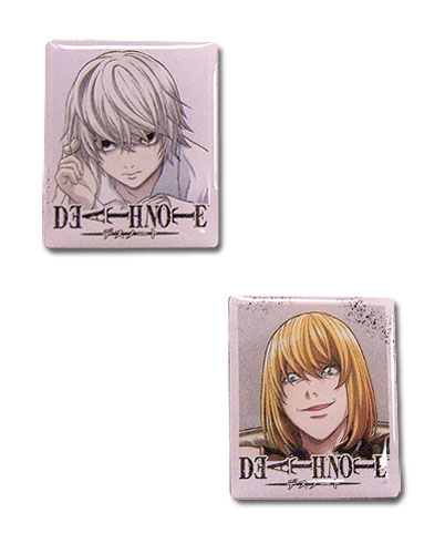 Death Note Near & Mello Pin Set, an officially licensed product in our Death Note Pins & Badges department.