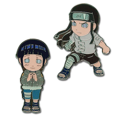 Naruto Hinata & Negi Pin Set, an officially licensed product in our Naruto Pins & Badges department.