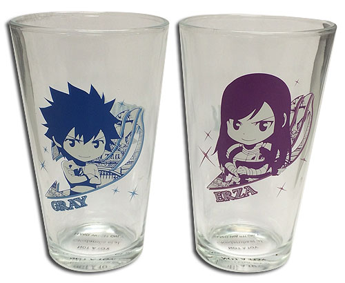 Fairy Tail - Set 2 Waterglass officially licensed Fairy Tail Mugs & Tumblers product at B.A. Toys.