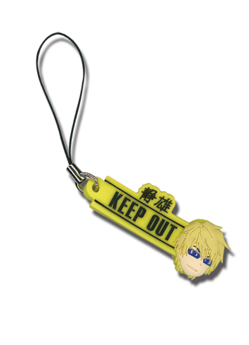 Durarara!! Keep Out And Shizuo Pvc Cellphone Charm officially licensed product at B.A. Toys.