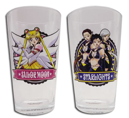 Sailor Moon Stars - Drinking Glass Set 1 officially licensed Sailor Moon Mugs & Tumblers product at B.A. Toys.