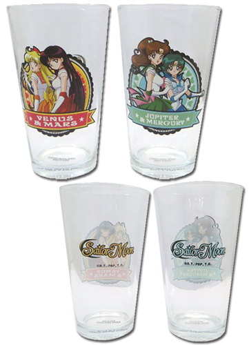 Sailor Moon - Set 2 Waterglass, an officially licensed product in our Sailor Moon Mugs & Tumblers department.