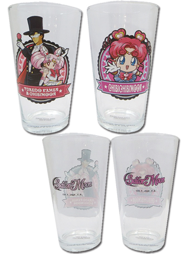 Sailor Moon - Set 4 Waterglass officially licensed Sailor Moon Mugs & Tumblers product at B.A. Toys.