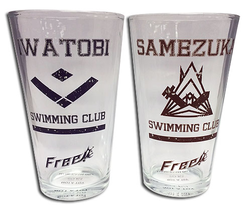 Free! - Set 4 Waterglass officially licensed Free! Mugs & Tumblers product at B.A. Toys.