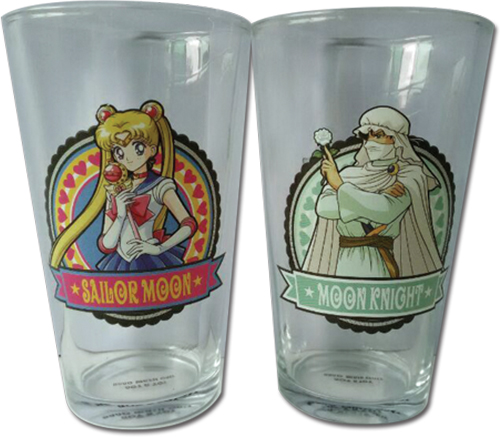 Sailor Moon R - Set 1 Waterglass officially licensed Sailor Moon Mugs & Tumblers product at B.A. Toys.