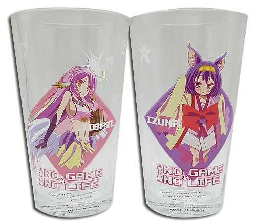 No Game No Life - Set 3 Waterglass, an officially licensed product in our No Game No Life Mugs & Tumblers department.
