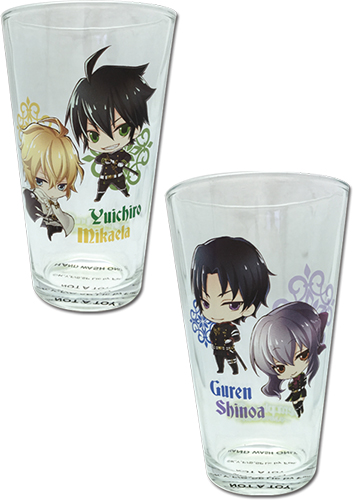Seraph Of The End - Set 2 Waterglass, an officially licensed product in our Seraph Of The End Mugs & Tumblers department.