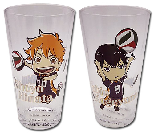 Haikyu!! - Set 1 Waterglass, an officially licensed product in our Haikyu!! Mugs & Tumblers department.