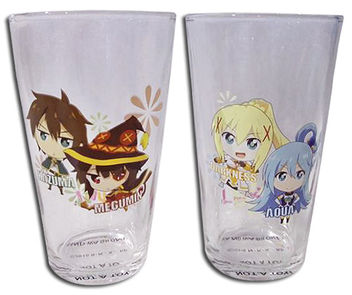 Konosuba - Set 1 Waterglass officially licensed Konosuba Mugs & Tumblers product at B.A. Toys.