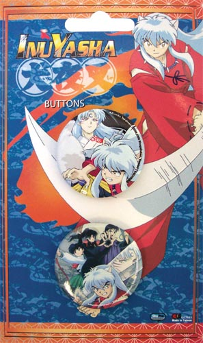 Inuyasha Button Set officially licensed product at B.A. Toys.