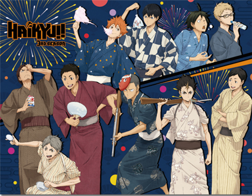 Haikyu!! - Group Bathrobe Throw Blanket, an officially licensed product in our Haikyu!! Blankets & Linen department.