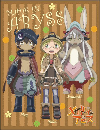 Made In Abyss - Group Sublimated Throw Blanket, an officially licensed product in our Made In Abyss Blankets & Linen department.