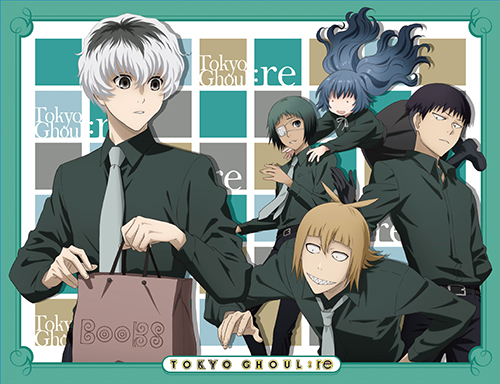 Tokyo Ghoul:Re - Group Sublimation Throw Blanket, an officially licensed product in our Tokyo Ghoul Blankets & Linen department.