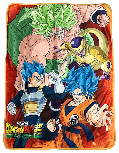 Dragon Ball Super Broly - Group Sublimation Throw Blanket, an officially licensed Dragon Ball Super Broly product at B.A. Toys.