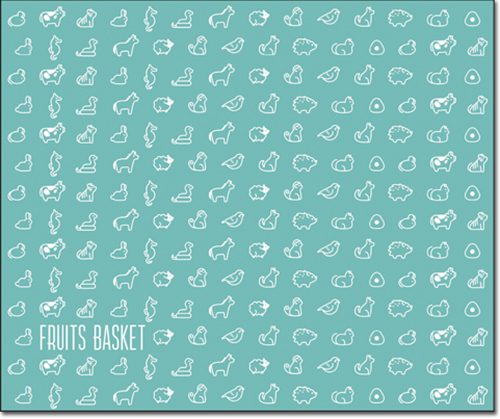 Fruits Basket 2019 - 12 Chinese Zodiac Logo Throw Blanket, an officially licensed Fruits Basket product at B.A. Toys.