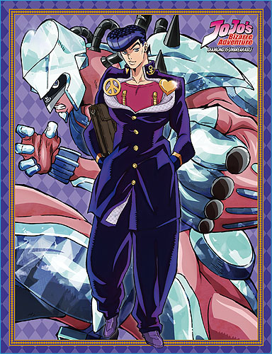 Jojo - S3 Josuke & Shining Diamond Sublimated Throw Blanket, an officially licensed product in our Jojo'S Bizarre Adventure Blankets & Linen department.