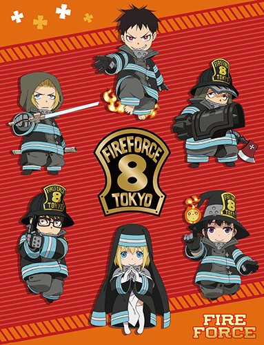 Fire Force - Sd Special Fire Force Co.8 Throw Blanket, an officially licensed product in our Fire Force Blankets & Linen department.