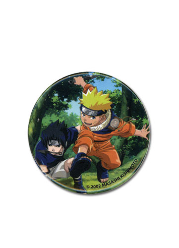 Naruto And Sasuke Button, an officially licensed product in our Naruto Buttons department.