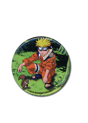 Naruto With Squrreil Button, an officially licensed product in our Naruto Buttons department.