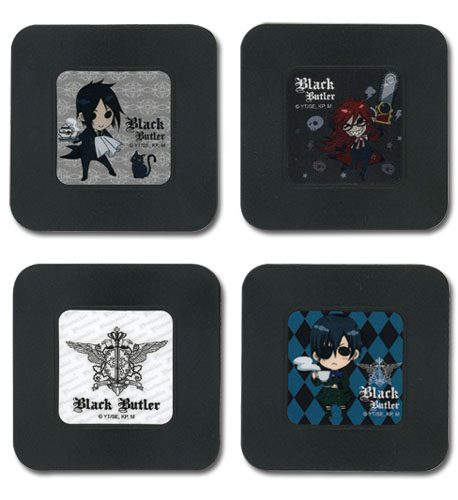 Black Butler - Set 1 Coaster officially licensed Black Butler Coasters product at B.A. Toys.