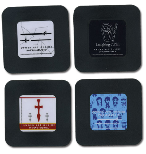 Sword Art Online Set 1 Coasters officially licensed Sword Art Online Coasters product at B.A. Toys.
