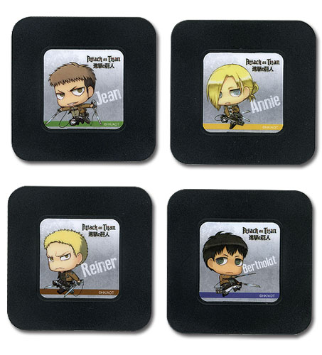 Attack On Titan - Set 5 Coaster officially licensed product at B.A. Toys.