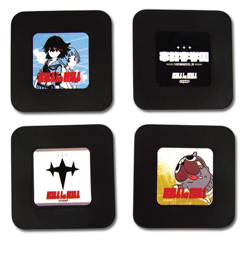 Kill La Kill - Set 1 Coaster officially licensed Kill La Kill Coasters product at B.A. Toys.