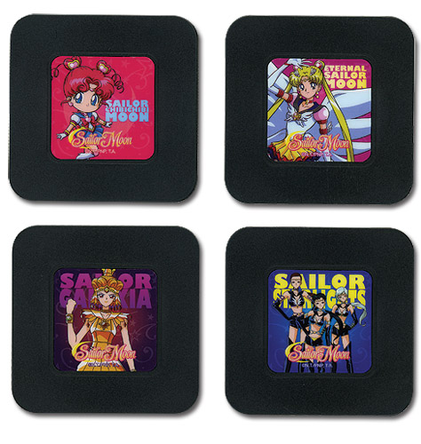 Sailor Moon - Set 1 Coaster officially licensed Sailor Moon Coasters product at B.A. Toys.