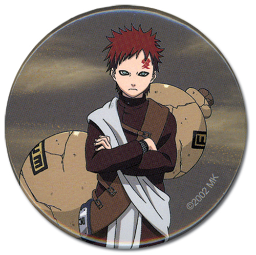 Naruto Gaara Button, an officially licensed product in our Naruto Buttons department.