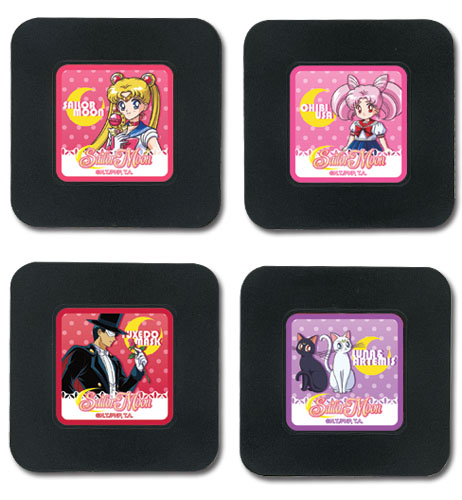 Sailor Moon R- Set 1 Coaster officially licensed Sailor Moon Coasters product at B.A. Toys.