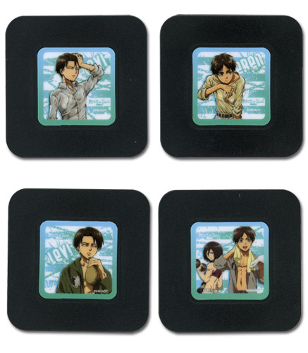 Attack On Titan - Set 8 Coaster, an officially licensed Attack On Titan product at B.A. Toys.