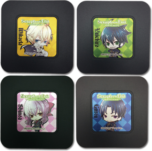 Seraph Of The End - Set 1 Coaster officially licensed Seraph Of The End Coasters product at B.A. Toys.
