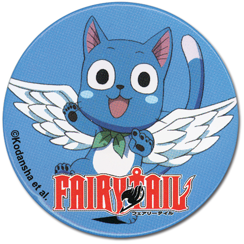 Fairy Tail Happy Button, an officially licensed product in our Fairy Tail Buttons department.