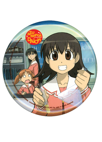 Azumanga Daioh Tomo Button, an officially licensed Azumanga Button