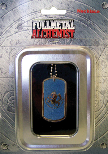 Fullmetal Alchemist State Army's Alchemy Necklace, an officially licensed Full Metal Alchemist Necklace