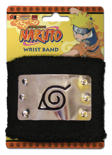 Naruto Leaf Village Metal Sign Wristband, an officially licensed product in our Naruto Wristbands department.