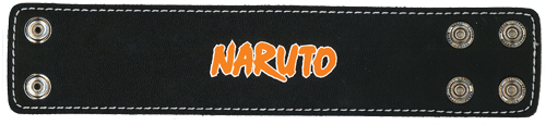 Naruto Logo Wristband, an officially licensed product in our Naruto Wristbands department.