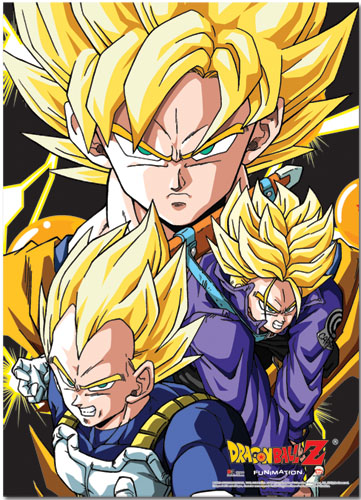 Dragon Ball Z Crew Fabric Posters officially licensed product at B.A. Toys.