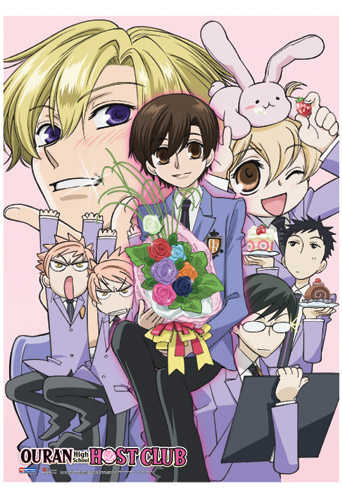 Ouran High School Host Club Ohshc Fabric Poster, an officially licensed product in our Ouran High School Host Club Posters department.